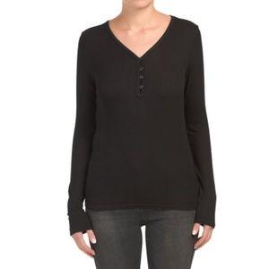 SPLENDID Ribbed Henley Shirt